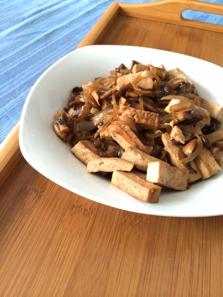 Tofu con salsa de soja y miel